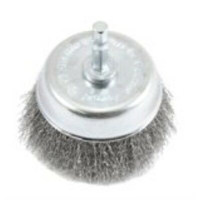 """Forney Cup Brush 3 """" Crimp, Mounted Fine Wire"""