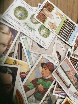 Mixed Lot Of Cigarette Cards 100