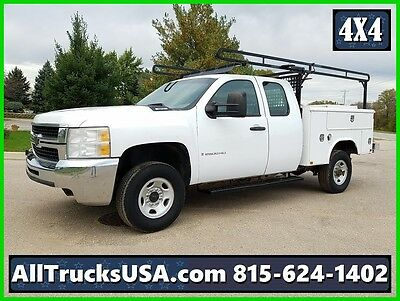 2009 CHEVY 2500HD 4X4 EXTENDED CAB 6.0L V8 GAS, 6.5 ' SERVICE UTILITY TRUCK 156k
