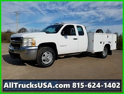 2009 CHEVY 3500HD EXTENDED CAB 6.0L GAS, 9' SERVICE UTILITY TRUCK 164k