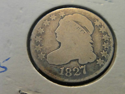 1827 #2 Capped Bust Dime Bold Date