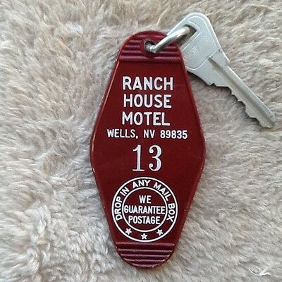 Ranch House Motel Wells Nevada Hotel key and fob Room 13