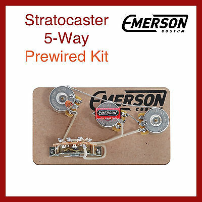 Emerson Custom Stratocaster 5-Way Prewired Kit