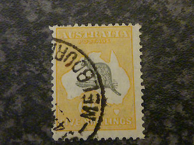Australia Postage Stamp Sg135 5/- Grey & Yellow Die Ii Very Fine Used