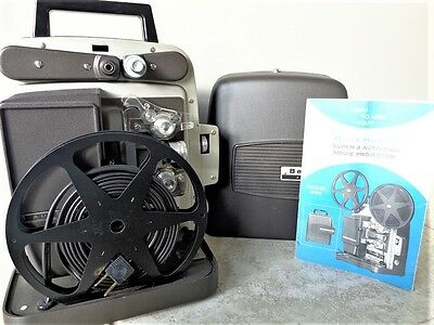 VTG Bell & Howell Autoload Model 346A Super 8MM Movie Projector + User Manual