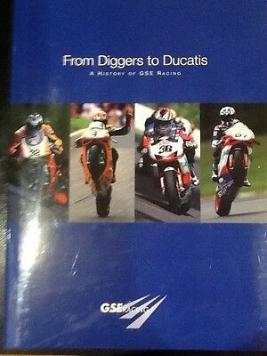"Hardback Book ""From Diggers to Ducatis"" A History of GSE Racing."