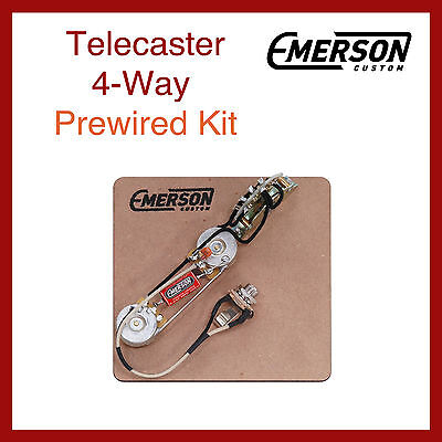 Emerson Custom Telecaster 4-Way Prewired Kit