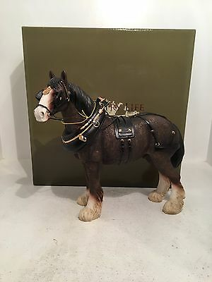 Country Life Large Shire Horse Figurine Ornament *BRAND NEW BOXED*