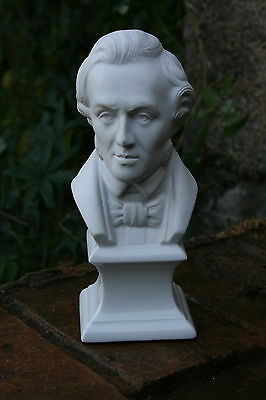 Buste Porcelaine Limoges Chopin Statuette Biscuit Ht 21 Cm