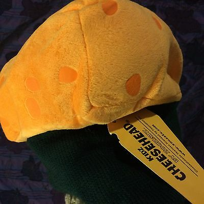 Kidz Cheesehead By Zoozatz  Fabric Hat Green Bay Packer Wisconsin New  With Tag