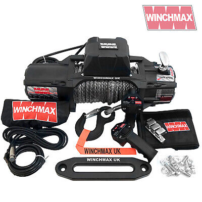 ELECTRIC WINCH 13500lb 12V SL MIL SPEC WINCHMAX 4x4/RECOVERY WIRELESS DYNEEMA