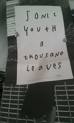 sonic youth poster for a thousand leaves 1998 two sided