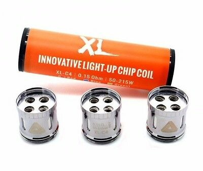 Authentic IJOY Limitless XL-C4 Light-Up Chip Replacement Coils (0.15 Ohm) 3 Pack