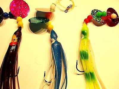 3 X SNOODS 4/0 ABERDEENS MUPPETS SQUID 12cm LURES.SEA FISHING TACKLE.BAITS