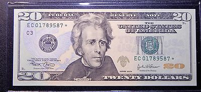*NEW* 2004 $20 Star/Replacement Banknote! Serial = ↑ of Jackson's Legal Career