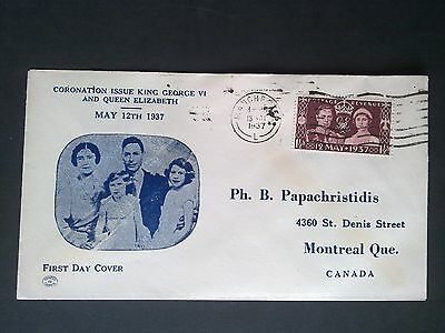 SG 461 KGVI 1937 Coronation Special First Day Cover