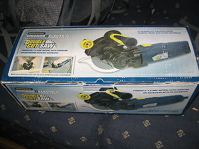 """SALE  NEW 5"""" CHICAGO ELECTRIC Professional Double Cut SAW , 2 blade, Clean Edge"""