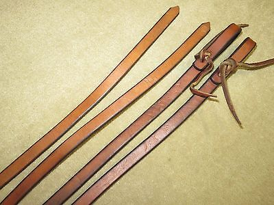 GUC~Supple, Thick & High Quality Western Light Brown HARNESS LEATHER Work Reins