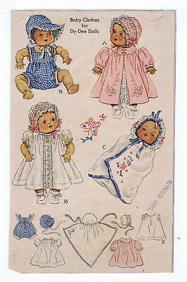 "632 Vintage Chubby Baby Doll Pattern Size 13"" -- Year 1949"