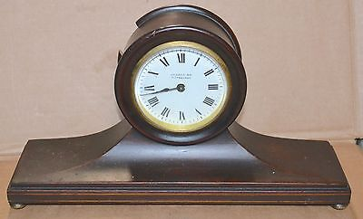 Antique Mahogany 8 Day Time French 11 Jewel Clock H & H  Duverdrey & Bloquel