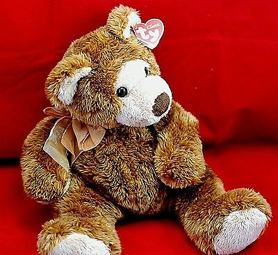 TY Classic 2003 Beanie Stuffed Plush Animal Toy Griddles The Bear 14 Inches Tall