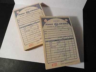 Vintage Esso Service Station Receipt Booklets X2 - Moore Business Forms