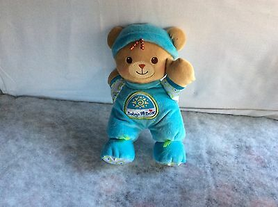 Fisher Price Baby's 1st Bear Blue Teddy Lovey Plush Stuffed Rattle Doll Toy 2008