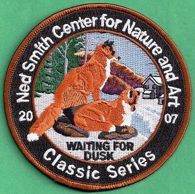 "Pa Pennsylvania Fish Game Commission Related 2007 Ned Smith Red Fox 4"" Patch"