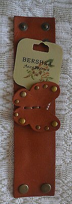 Bershka accessories faux leather bracelet WRISTBAND butterfly with label