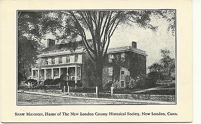 Shaw Mansion, Historical Society, New London, Conn. Postcard