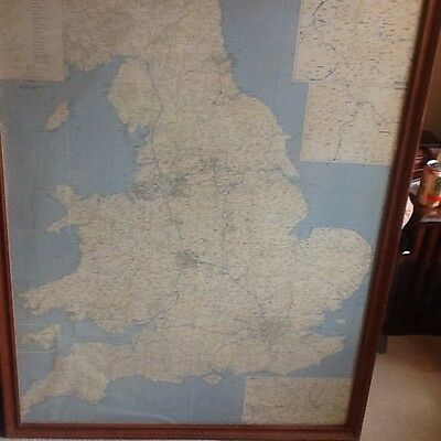 Large Framed Map of Great Britain Pre 1974 (Collection only)