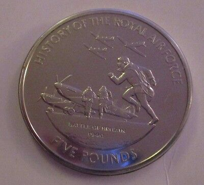 Guernsey 2008 History Of The Royal Air Force £5 Crown In Mint Condition