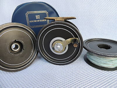 Vintage Hardy The Ocean Prince Two Fly Fishing Reel + 2 Spare Spools & Case.