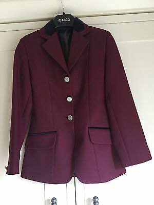 "Riding Jacket Size 28"". Tagg In Burgundy"