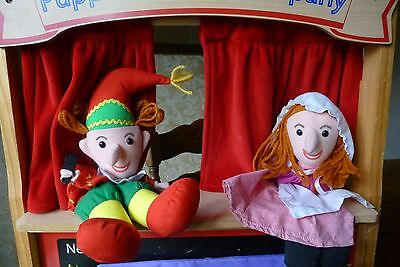 Childrens wooden punch and judy puppet theatre