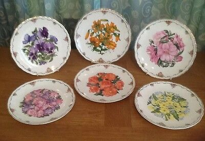 6 Royal Albert Collector Plates Queen Mothers Favourite Flowers.