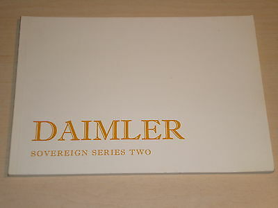 Daimler Sovereign Series Two 2&4 Door Original Owners Handbook 1979 New, Old Sto