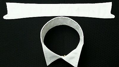 Vintage Mens Cotton Wing Collar Size 15 inches