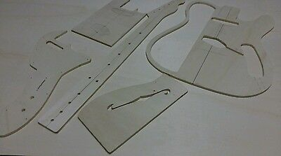 telecaster thinline guitar template luthier supplies + pdf project