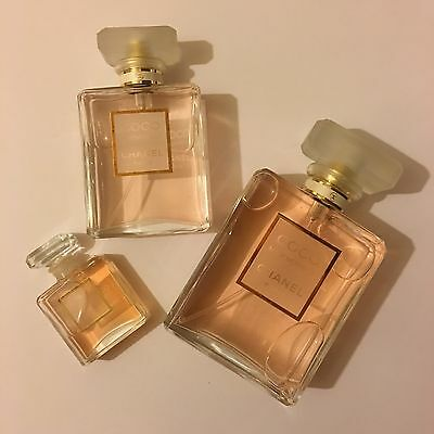 Chanel Coco Mademoiselle Factice Dummy Display Bottles (Set Of Three)
