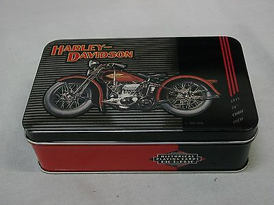 Harley Davidson Limited Edition Tin 1997 with Historical Playing Cards 1903-1950