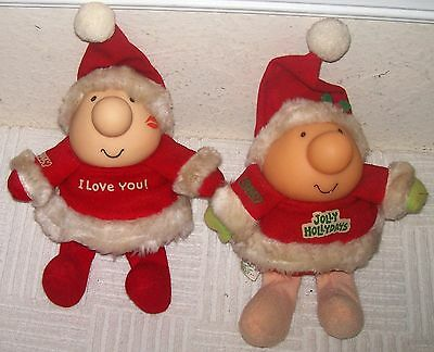 1986 American Greetings Lot 2 ZIGGY Plush Jolly Hollydays Christmas & I Love You