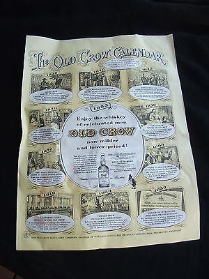 Vintage magazine ad THE OLD CROW CALENDAR whiskey from Collier's Oct 14 1955