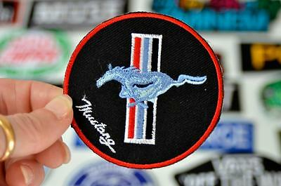 MUSTANG Horse STRIPE Car Automobile Motor Jacket Logo Team Iron on Patch Patches