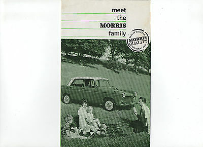 1965 Morris car range brochure: Morris Mini-Minor, Minor 1000, 1100 & Oxford