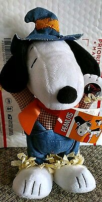 New Snoopy Dancing Animated Plush Plays Music Fall Thanksgiving Farmer Dances