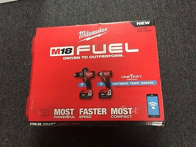 Milwaukee 2796-22(RED LITHIUM XC5.0) M18 Fuel with One-Key, 2-Tool Combo Kit-NEW