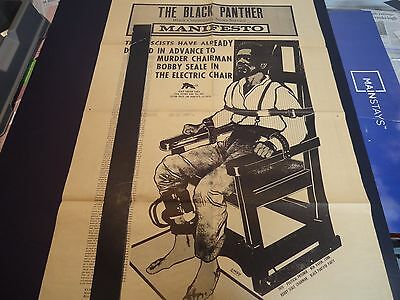 BLACK PANTHER PARTY NEWSPAPER Bobby Seale Poster Original Supplement ? VGC 1/70