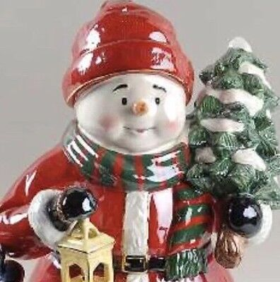 Waterford Snowman Cookie Jar Christmas Holiday Heirlooms - Nwt & Retired!