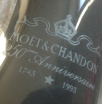 2 special edition MOET & CHANDON  250 th Anniversary Champagne glasses flutes
